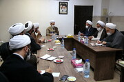 نشست آیت الله اعرافی با مدیران معاونت تبلیغ حوزه های علمیه