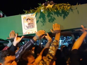 فیلم | وداع با پیکر شهید مدافع حرم در کاشان