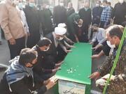 تصاویر/ تشییع پیکر شهید مدافع حرم در کاشان
