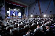 تصاویر/ سخنرانی تلویزیونی رهبر معظم انقلاب در آئین تجلیل از پیشکسوتان دفاع مقدس