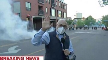 Reporter shot with rubber bullet in peaceful protest ridiculed by trump