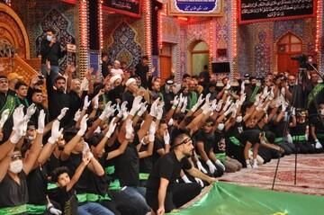 تصاویر/عزاداری خادمان مرقد سلمان فارسی برای حضرت رقیه (س) در کربلای حسینی