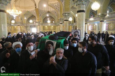 بالصور/ تشيع جثمان آية الله السيد هاشم الهاشمي الكلبايكاني بقم المقدسة
