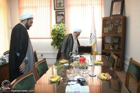 تصاویر/ بازدید آیت الله ممدوحی از رسانه رسمی حوزه در سال ۱۳۹۴