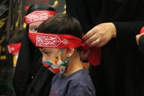 تصاویر| برپایی سفره حضرت رقیه در مهدکودک و دبستان قرآنی گلهای مهدوی شیراز با حضور مبلغین