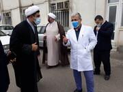 نماینده آیت الله اعرافی به عیادت طلاب حادثه دیده تالش رفت + عکس