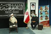 دیدار امام جمعه قزوین با والدین شهدای مدافع حرم + عکس