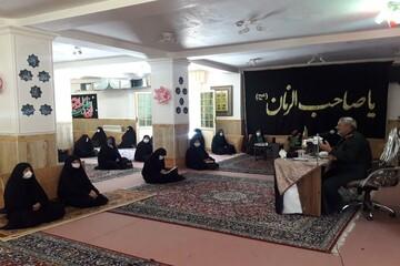 تصاویر/ مراسم هفته دفاع مقدس در مدرسه علمیه الزهرا (س) خوی