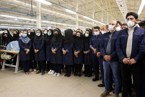 تصاویر/ بازدید سرزده رئیس قوه قضاییه از کارخانه نساجی سبلان پارچه