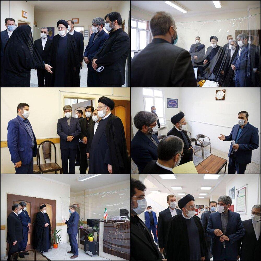 فیلم/ بازدید سرزده آیت الله رئیسی از مجتمع قضایی شهید قدوسی اردبیل