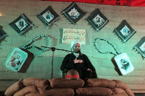 تصاویر|برگزاری یادواره شهدای شهرستان قروه در مدرسه علمیه امام صادق (ع)