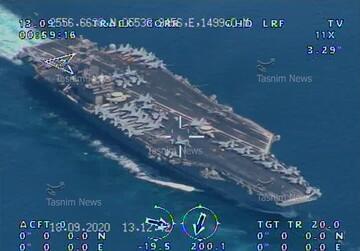 ناوگان دریایی آمریکا زیر ذره بین اطلاعاتی سپاه رفت