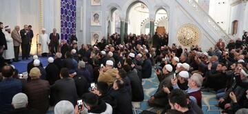President Erdoğan addresses worshippers with speech at Turkey's biggest mosque