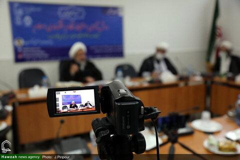 """بالصور/ إقامة ندوة علمية افتراضية تحت عنوان """"معرفة أساليب استنباط النظام الأقتصادي الإسلامي"""" بقم المقدسة"""