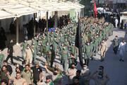 مراسم تشییع نمادین پیکر مطهر امام حسن(ع) در سامرا برگزار شد
