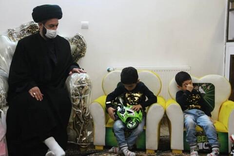 تصاویر/ دیدار نماینده ولی فقیه در اردبیل با خانواده شهدای مدافع حرم