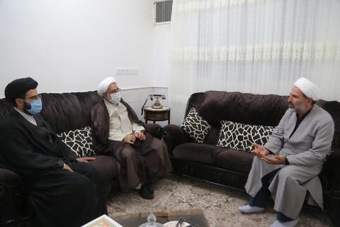 دیدار قائم مقام مدیر حوزه های علمیه در امور استان ها با طلبه جانباز حجت الاسلام والمسلمین حداد
