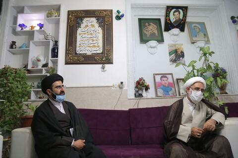 دیدار قائم مقام مدیرحوزه های علمیه با خانواده شهید بسیجی سید علی زمانی