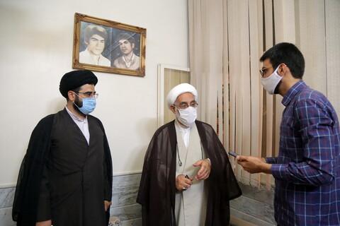 تصاویر / حضور قائم مقام مدیرحوزه های علمیه در خانواده شهیدان موسوی
