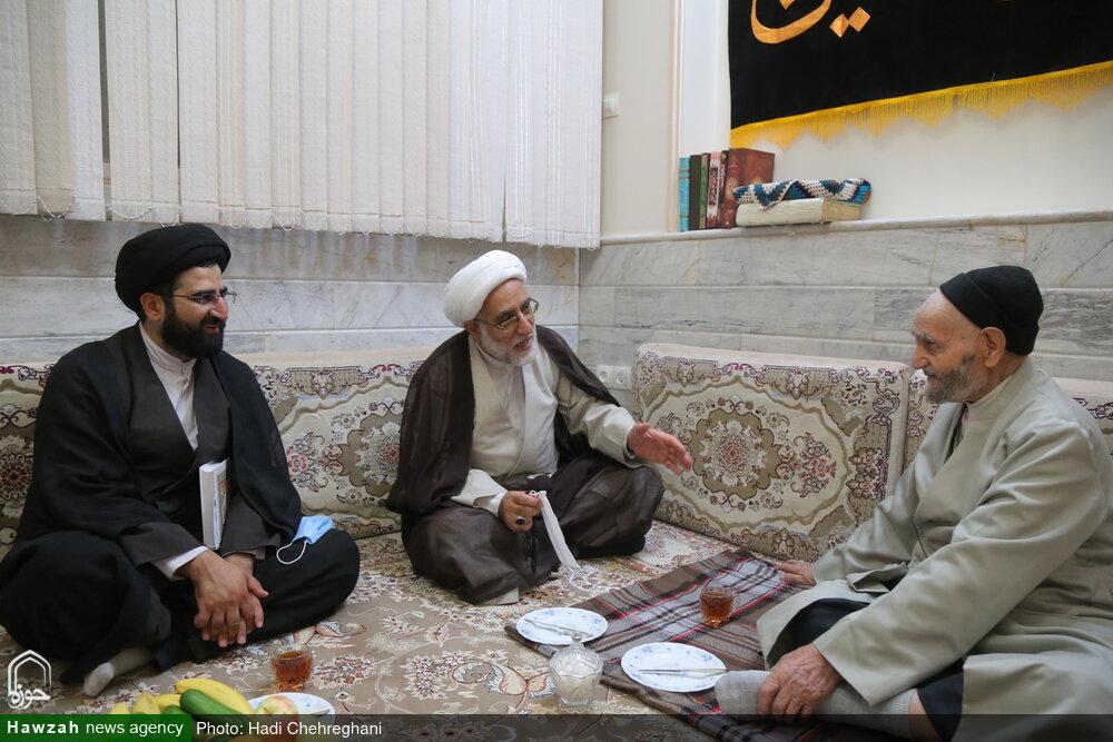 تصاویر/ دیدار قائم مقام مدیر حوزههای علمیه با خانواده شهدا و جانباز دفاع مقدس