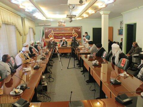 تصاویر| مراسم تجلیل از روحانیون رزمنده کردستانی به مناسبت هفته دفاع مقدس