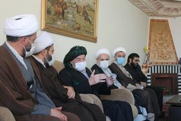 تصاویر/ دیدار مدیر حوزه علمیه استان کردستان با ماموستا حسامی امام جمعه سابق سنندج