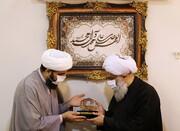 تصاویر/ بازدید حجت الاسلام والمسلمین فرحانی مسئول دبیرخانه دائمی دستاوردهای حوزه از رسانه رسمی حوزه