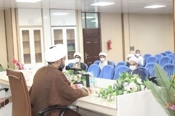 تصاویر/ دیدار مدیر کل کتابخانههای عمومی هرمزگان با مدیر حوزه علمیه  این استان