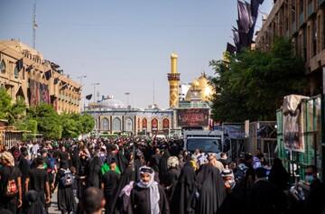 تصاویر/ رسیدن اولین زائران اربعین حسینی به کربلای معلی