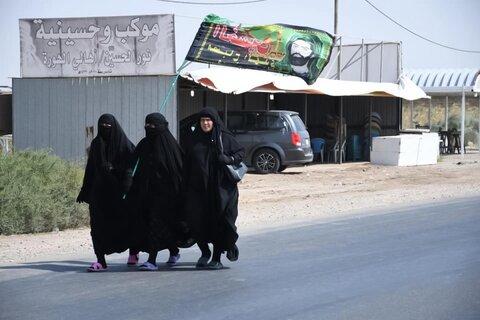 پیاده روی زائران اربعین حسینی در مسیر کربلای معلی