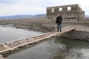 مسجد متعلق به قرن پانزدهم از زیر آب بیرون آمد