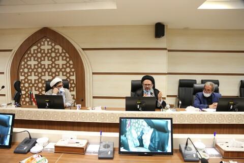 نشست سبک زندگی خدایی در ادیان توحیدی با تاکید بر شعائر دینی (اربعین حسینی) در مرکز ارتباطات و بین الملل حوزه