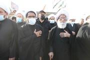 آیتالله نجفی در مسیر پیادهروی اربعین: زائران تحت حفاظت امام حسین(ع) هستند