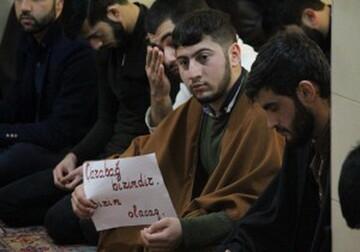 برگزاری مراسم حمایت از مردم قرهباغ در تبریز