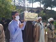 پیکر طلبه شهید تازه تفحص شده در زاهدان تشییع شد