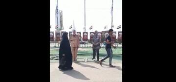 فیلم | اظهار ارادت زائران عراقی به شهدای مقاومت