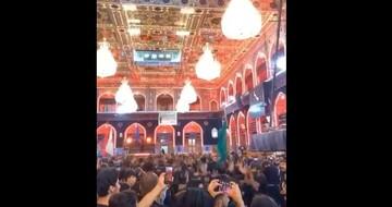 فیلم | حرم سیدالشهدا (ع) مملو از جمعیت در شب اربعین
