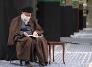تصاویر/ مراسم عزاداری و قرائت زیارت اربعین با حضور رهبر معظم انقلاب