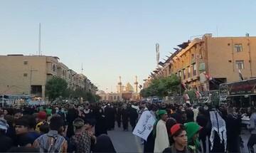 فیلم | نمایی از حرم حضرت عباس(ع) در روز اربعین