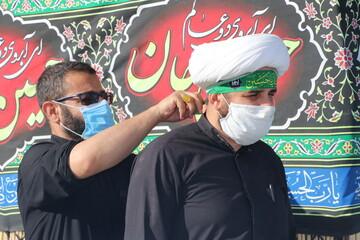 تصاویر| حال و هوای اربعین بین الحرمین شیراز