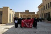 تصاویر/ برپایی موکب و پیاده روی نمادین اربعین در مکتب الزهرا(س) یزد