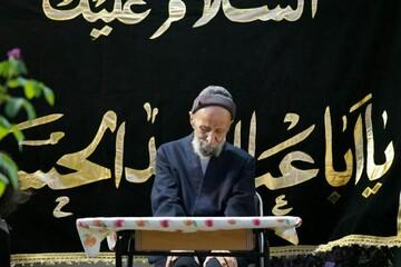 عکس/ روضه خانگی آیت الله مصباح یزدی در روز اربعین