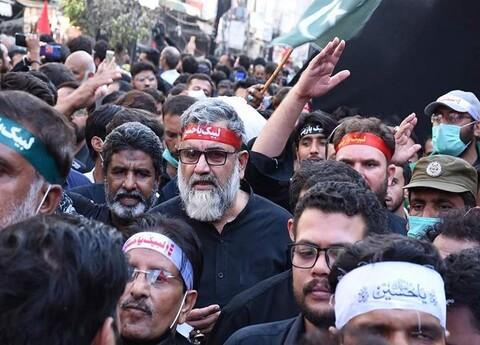 علامہ ناصر عباس جعفری اور علامہ امین شہیدی کی اربعین جلوس میں شرکت