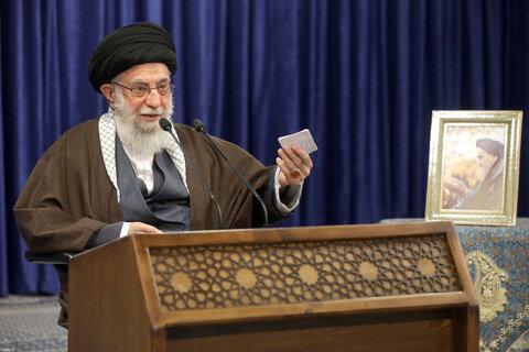 ارتباط تصویری رهبر معظم انقلاب با دانشگاه افسری امام علی (ع)