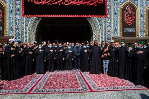 حضور گسترده در تشییع پیکر سید الطویرجاوی خطیب معروف نجف اشرف در کربلا