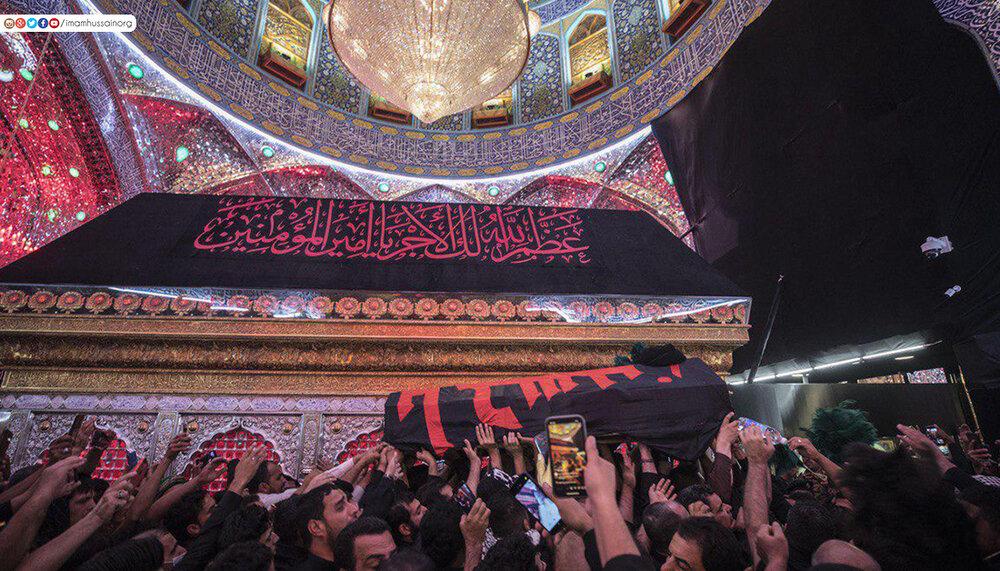 تصاویر/ تشییع پیکر خطیب و روضه خوان معروف حسینی در جوار حرم امیرالمؤمنین(ع)