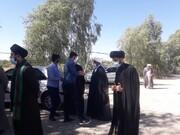 تصاویر/ بازدید مدیر حوزه هرمزگان از موقوفات شهرستان حاجی آباد