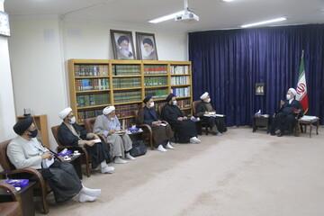 تصاویر/ دیدار مدیر حوزه علمیه یزد با آیت الله اعرافی