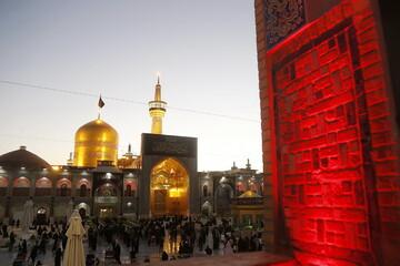 تصاویر/ حال و هوای حرم رضوی در آستانه سالروز شهادت ثامن الائمه(ع)