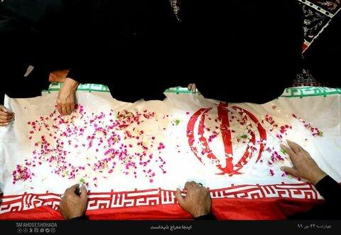 تصاویر/ وداع خانواده با روحانی شهید مدافع حرم مجید سلمانیان